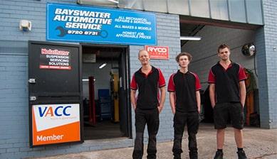 Bayswater Automotive Service Team